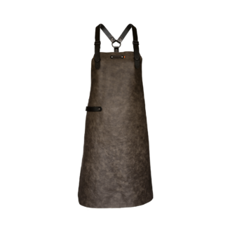 Tablier en cuir Taupe Xapron - The Gastronomie House Lyon