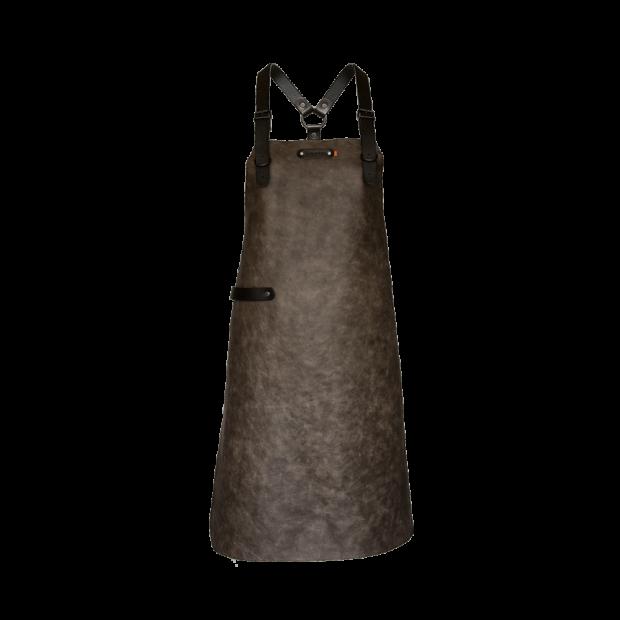 Tablier en cuir Taupe Xapron - The Gastronomie House Lyon