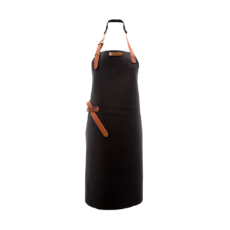 Tablier cuir noir Xapron - The Gastronomie House Lyon