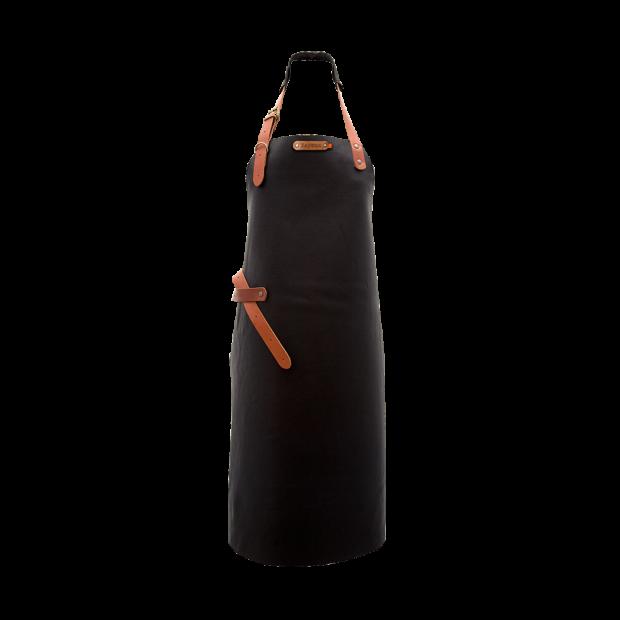 Tablier cuir noir Xapron - The Gastronomie House Lyon