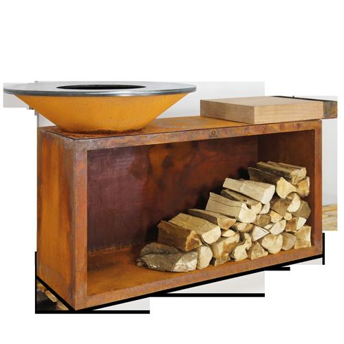 Unités de cuisson rangement bois OFYR - The Gastronomie House Lyon
