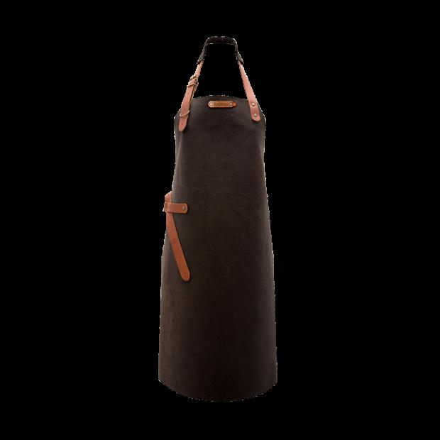 Tablier cuir choco Xapron - The Gastronomie House Lyon