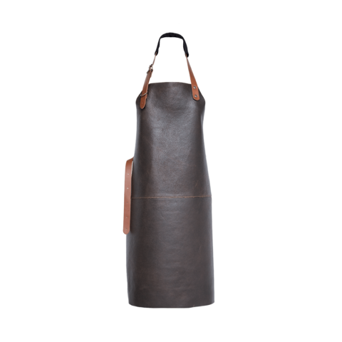 Xapron Tablier en cuir Marron - The Gastronomie House Lyon