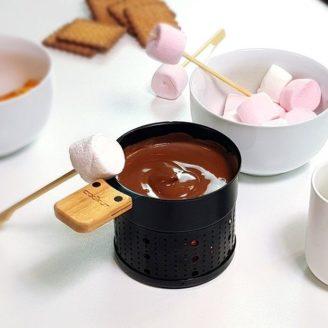 fondue chocolat à la bougie - The Gastronomie House Lyon