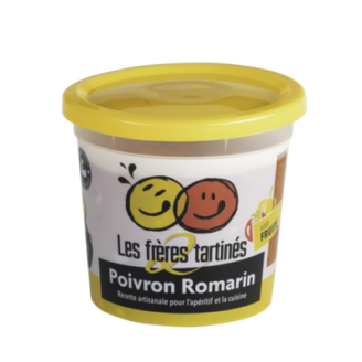 tartinade poivron romarin 2 freres tartines - The Gastronomie House Lyon