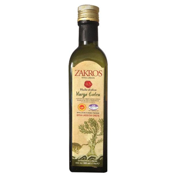 Huile d'olive Zakros - The Gastronomie House Lyon