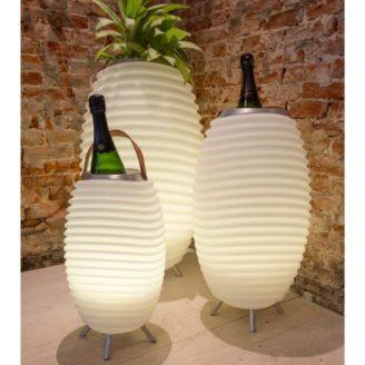 enceinte bluetooth rafraichisseur LED kooduu - The Gastronomie House Lyon